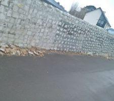 Démontage du parement pierre