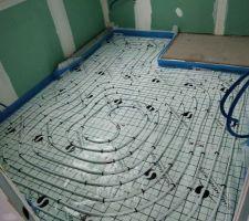 Serpentins de chauffage dans une salle de bain