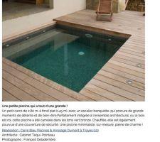 Mini piscine Carré Bleu