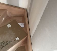 Petit décalage de l'escalier qui sera rattrapé selon le cdt