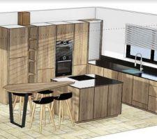 Visuel 3D de la cuisine.