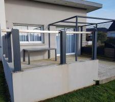Aménagement du muret autour de la terrasse