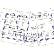 Plan maison en V 100m2