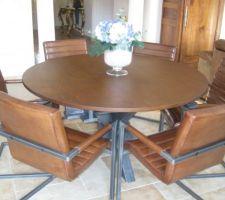 Nouvelle table chêne style industriel