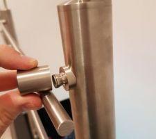 Mise en place des tubes inox ronds