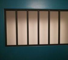 Projet Verrière : Etape mise en peinture de l'encadrement