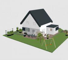 Plan aménagement jardin
