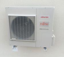 Pose de la pompe à chaleur atlantic air/air pour chauffage gainable