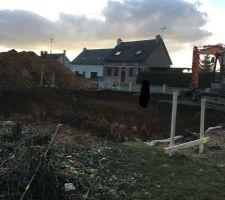 Implantation maison + terrassement