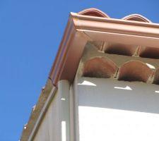 Gouttières couleur Brique, descente couleur du Mur