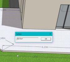 Idée de la terrasse à mettre en place