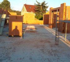 Élévation murs.  Grande baie visible