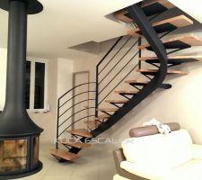 Choix de l'escalier- Escalier métallique à limon central.