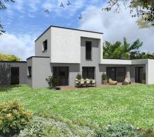 maison moderne a toit plat performance proche du passif