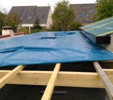 27-09-2017 Jonction toit traditionnel, toit mono-pente.