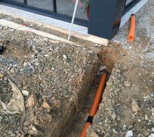 Pose du drainage