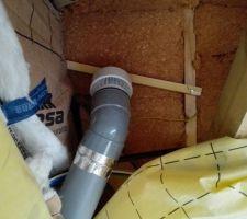Event pour tuyau de 100 mm eau usée dans les combles
