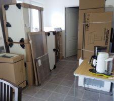 L'arrivée des meubles de cuisine