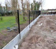 Pose de la clôture