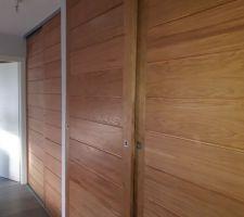 Portes de placard en chêne verni
