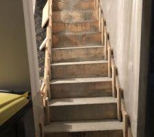 Escalier béton fini