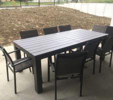 Table et fauteuils Hesperide