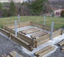 Début du montage de la structure en bois
