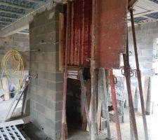 Création escalier beton quart tournant