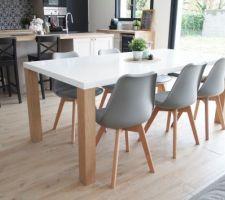 Table Austral Maisons du Monde et chaises My Little Factory