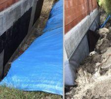 On est dégouté, effondrement du talus a l'arrière de la maison alors que le drainage n'etais pas encore fait, il faut tout nettoyer et refaire, il y a de forte change que cela passe en procedure d'assurance.