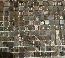Mosaïque sol de la douche italienne suite parentale, les joints ne sont pas fait