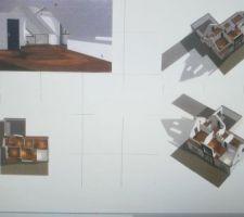 Vue 3D de l'étage