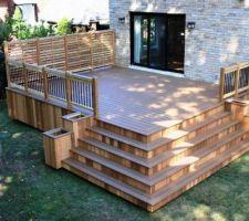 Façade devant un balcon terrasse avec escalier d'angle sera prévu 1.50 de large sur 3.50 de long