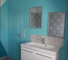 La salle de bain achevée
