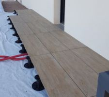 Dalle de terrasse 40x120 aspect bois