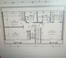 Première ébauche des plans de l étage. Depuis légère modifications