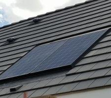 Pose panneau photovoltaïque fini....