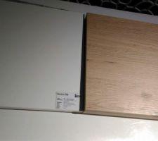 Façades blanc brillant & plan de travail Chêne ?