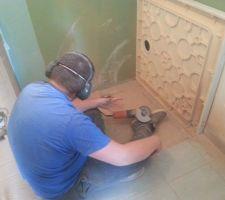 Installation du receveur de douche