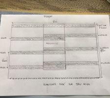 Plan d'implantation des madriers pour mon plancher dans les combles