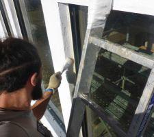 Couche d'imperméabilisation à la peinture silicate