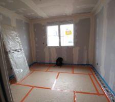 Chambre 1...Préparation pour chauffage au sol...