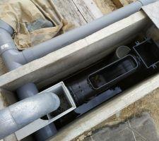 Préfiltration eau de pluie avec filtre Intewa DN100 + décantation. Regard béton sur mesure DIY (200kg).