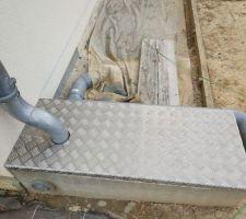 Préfiltration eau de pluie. Regard béton sur mesure DIY (200kg).