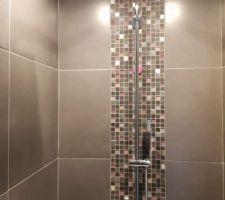 Salle d'eau étage nouvelle colonne de douche