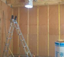 Mur séparant la chambre et le garage