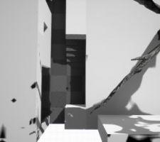 Tombés d'accord sur la 3ème idée : dégage un peu devant la baie vitrée, laisse la possibilité de pouvoir manger à 3 juste devant, en limitant les dégâts fait au peu de terrain qu'on a. En fait à la place du carré en bas, le mur de soutènement fera très certainement un arrondi.