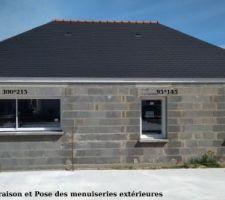 Vendredi 04 Mai - Livraison et Pose des menuiseries extérieures  ERATUM - Dimensions fenêtre coulissante : 300 par 115
