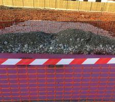 Le béton lavé en cours de réalisation