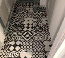 Carrelage toilette de l?étage